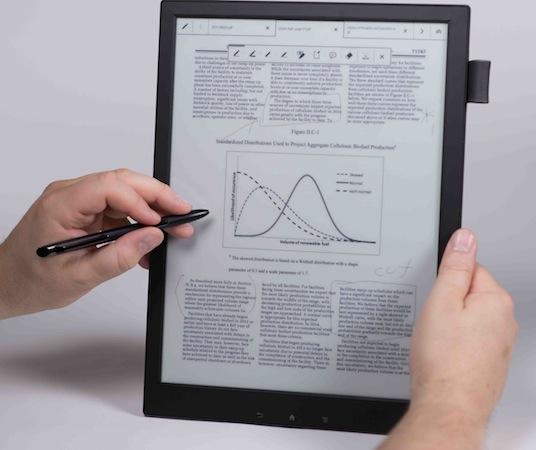 Электронная книга Sony Digital Paper System весит примерно 360 г