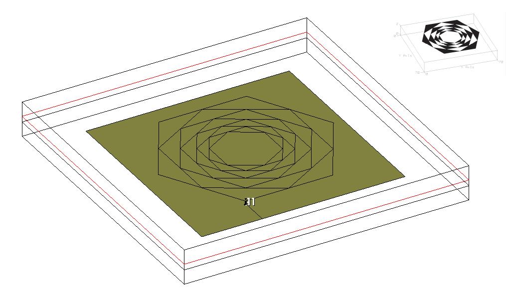 Проектирование СШП шестиугольной фрактальной микрополосковой НЕантенны, или будь бдителен