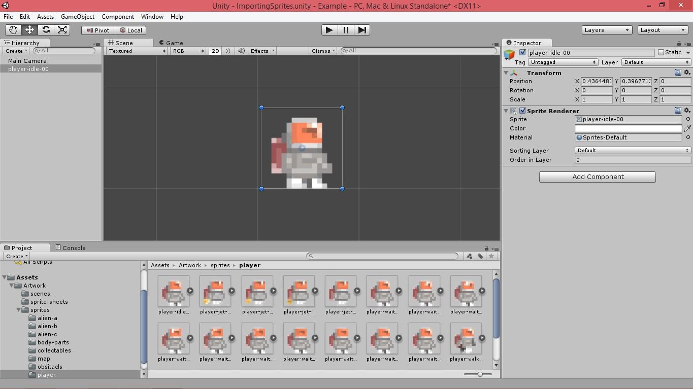 Работа со спрайтами (Unity3d)
