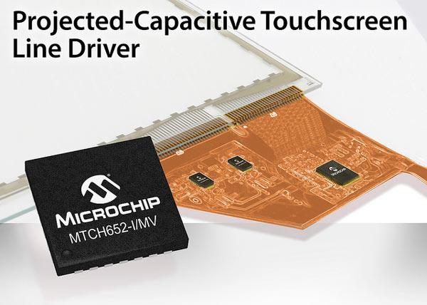 Микросхема Microchip MTCH652 используется в панели Microchip 3DTouchPad