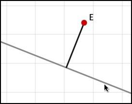 Перпендикулярный отрезок через свободную точку
