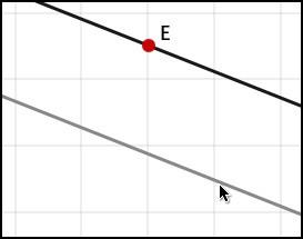 Параллельная прямая через заданную точку