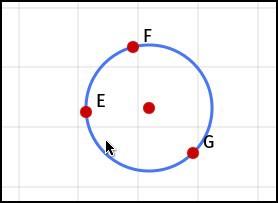 Окружность по трём точкам