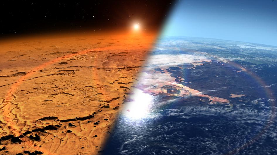 Как выглядел Марс в прошлом?