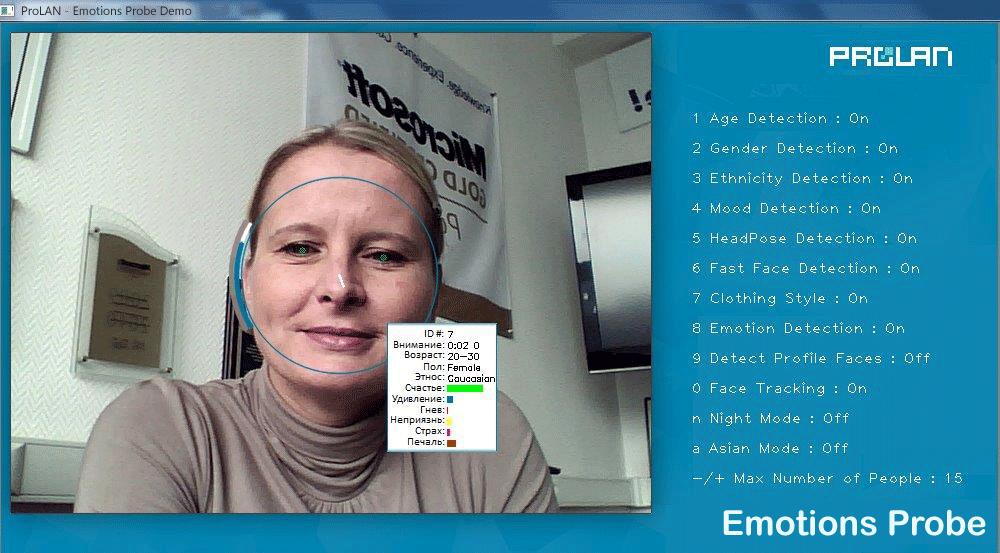 Мониторинг пола, возраста и эмоционального фона клиентов по SNMP