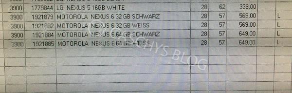 Nexus 6 Nexus 9