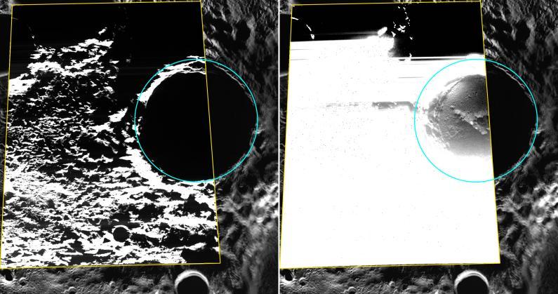MESSENGER обнаружил водяной лед на Меркурии