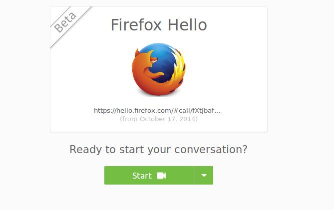 В Firefox beta появилась возможность совершать видеозвонки без установки дополнительного ПО и регистрации
