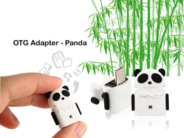 Pny комплектует миниатюрный накопитель Micro M2 переходником USB OTG в форме панды