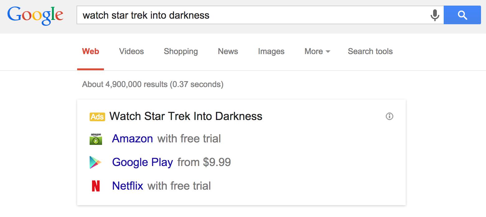 Рекламные подсказки на Google