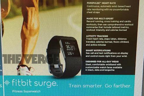Новинка от Fitbit   «умные суперчасы» Surge
