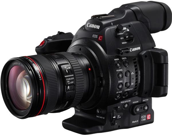 В камере Canon EOS C100 Mark II используется датчик типа CMOS формата Super‑35 разрешением 8,3 Мп
