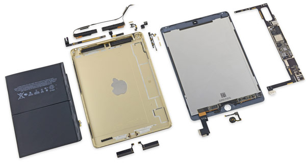Ремонтопригодность планшета Apple iPad Air 2 очень невелика, считают специалисты iFixit