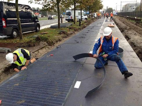 В Голландии построили уникальную солнечную велодорожку