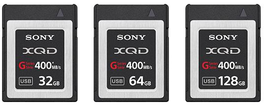 Предложено три варианта объема карт памяти Sony G: 32, 64 и 128 ГБ