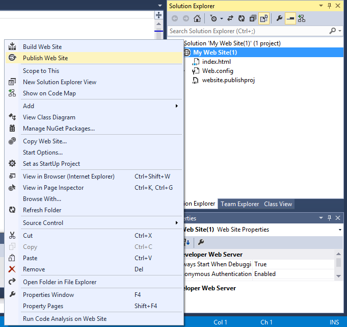 Visual Studio Express – отличный бесплатный инструмент для веб разработки