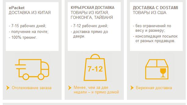 3 новых способа доставки в Россию от eBay