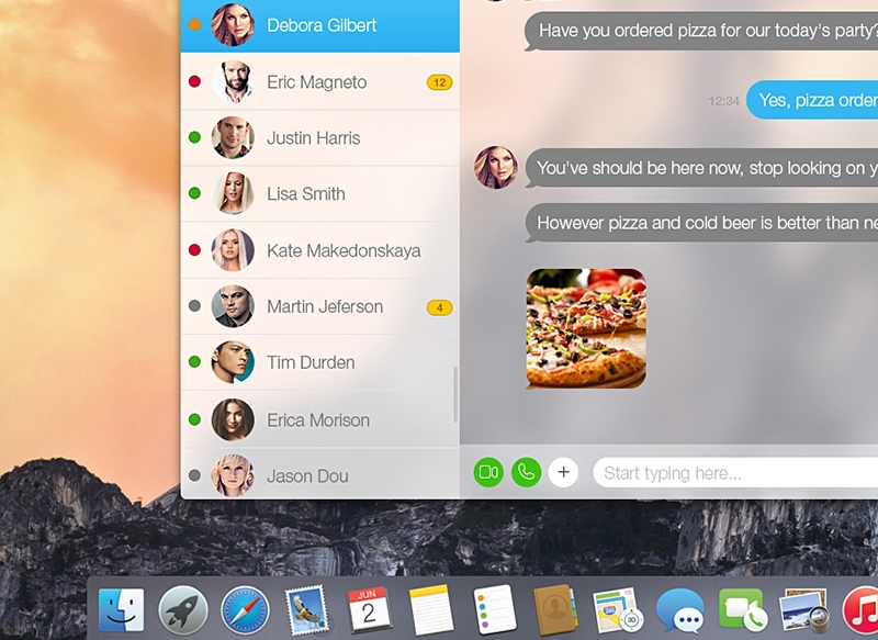 Skype для Mac получил поддержку OS X Yosemite