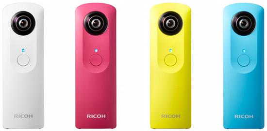 Продажи новой камеры Ricoh Theta начнутся 14 ноября