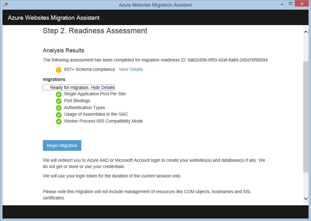 Миграция сайтов в облако вместе с Azure Websites Migration Assistant