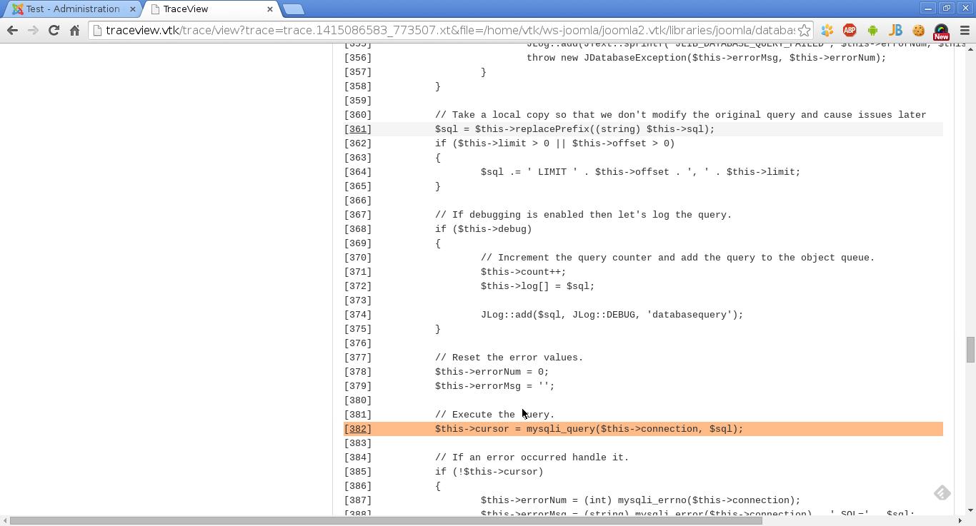 GUI для xdebug trace файлов