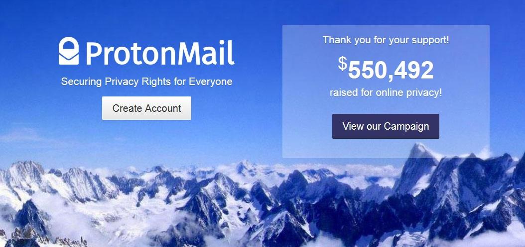 Защищенный анонимный сервис ProtonMail от разработчиков из ЦЕРН начал рассылать инвайты