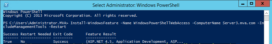 Powershell embedded quotes