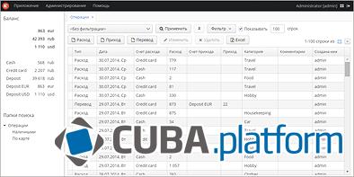 Домашняя бухгалтерия на платформе CUBA. Часть 2 - 1