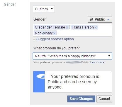Ни в чём себе не отказывайте: Фейсбук добавил ещё 20 гендерных опций. Теперь их 70