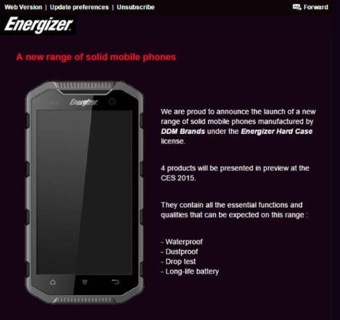 Презентация первых смартфонов от Energizer