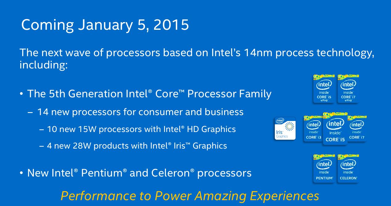 Компания Intel рассказала о процессорах Core пятого поколения - 1