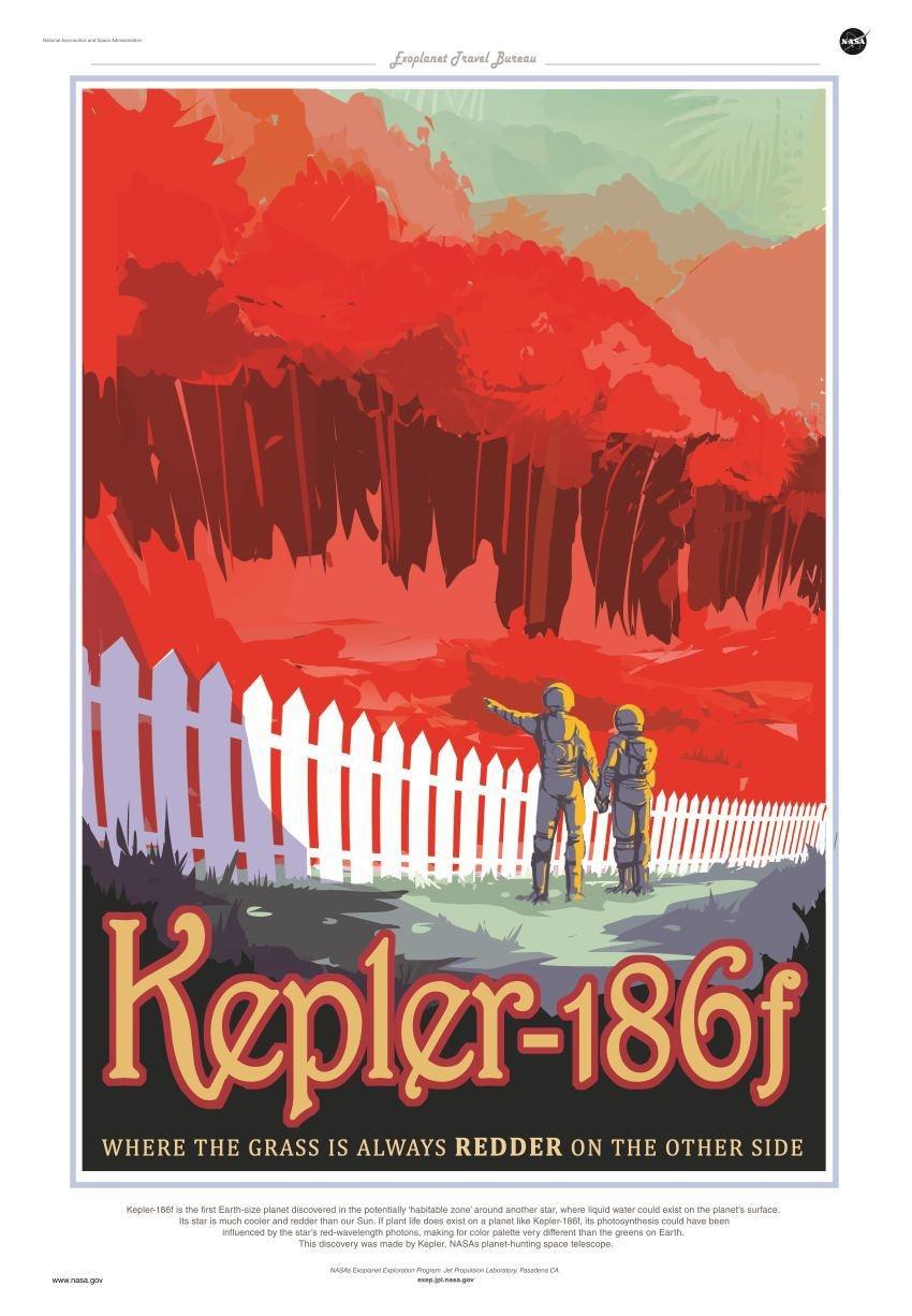 Туристические постеры от NASA для путешественников на экзопланеты - 2