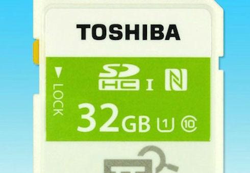 Toshiba представила первую в мире карту памяти с NFC