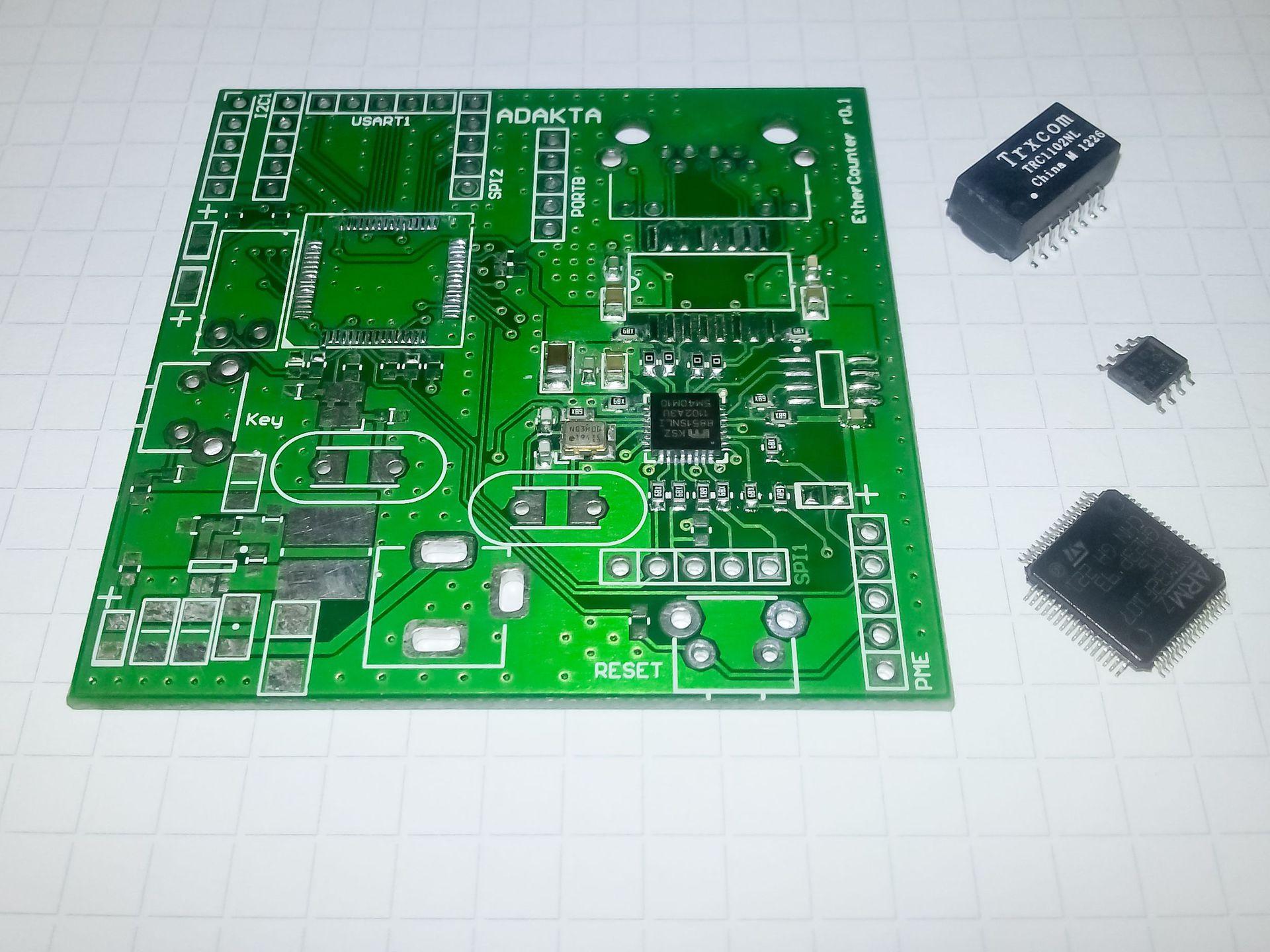 Ручной монтаж сложных плат на компонентах 0402, 0603, QFN, LQFP и THT - 13