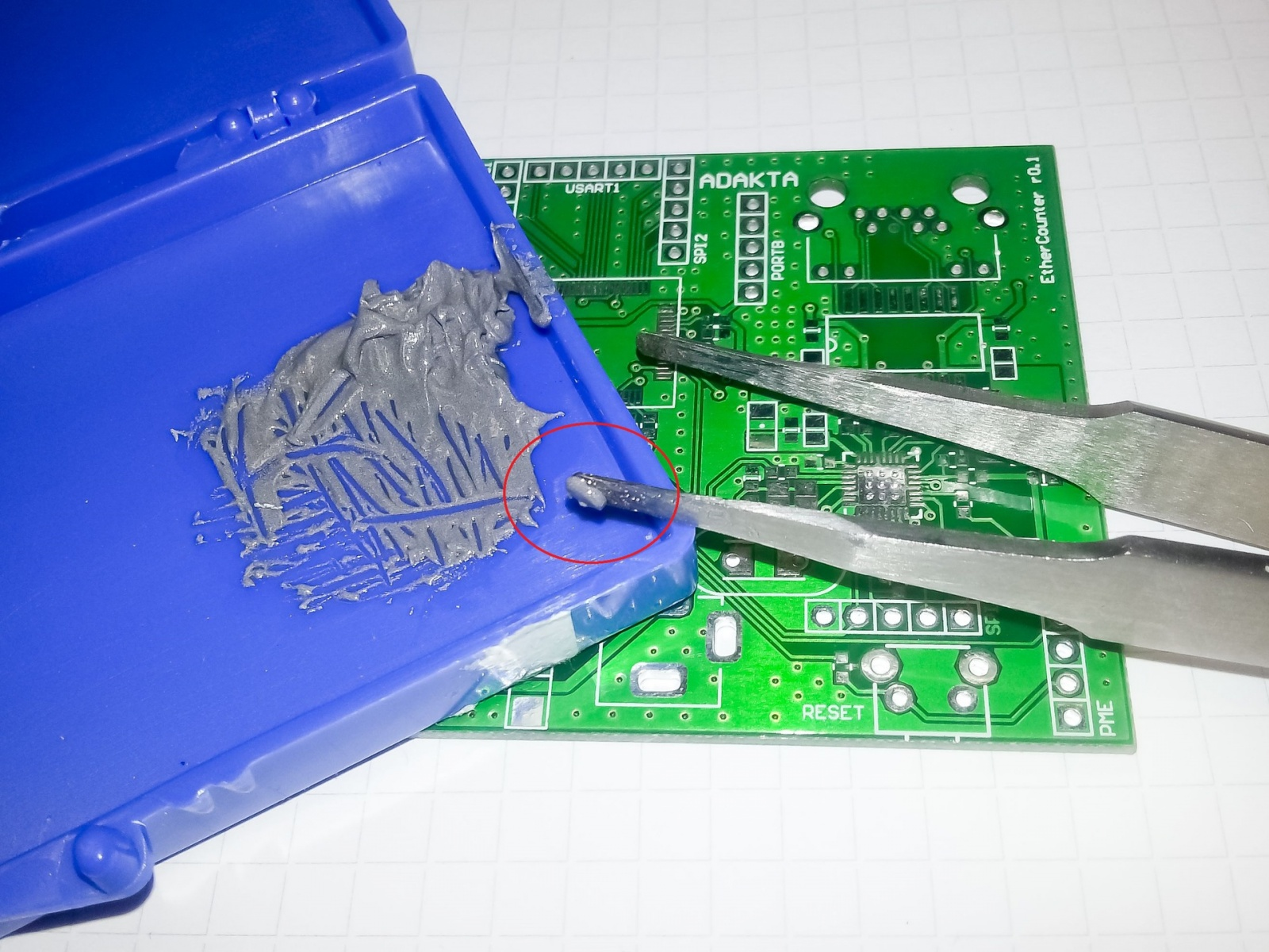 Ручной монтаж сложных плат на компонентах 0402, 0603, QFN, LQFP и THT - 6