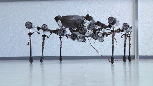Инженеры создали огромного шестилапого робота насекомого