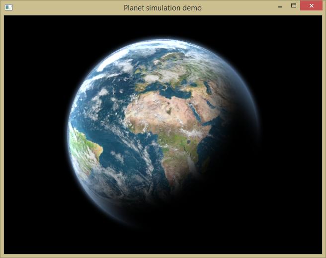 Объемные планеты в 2D через шейдер - 1