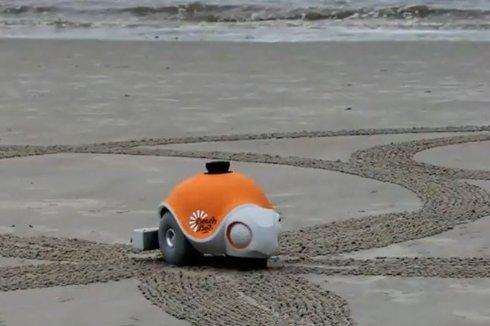 Создан робот, умеющий рисовать на песке