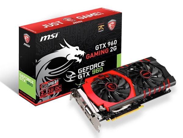 MSI представила четыре варианта 3D-карты GeForce GTX 960