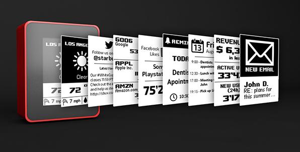 Миниатюрный информационный экран DISPLIO с помощью виджетов может отображать любую информацию - 1