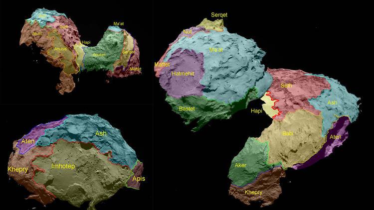 Ученые картографировали поверхность ядра кометы Чурюмова-Герасименко - 1