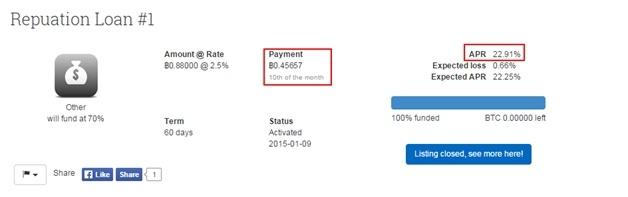 Инвестируем в самый неприбыльный актив 2014 года. Опыт работы на площадке P2P-кредитования BTCJam.com - 8