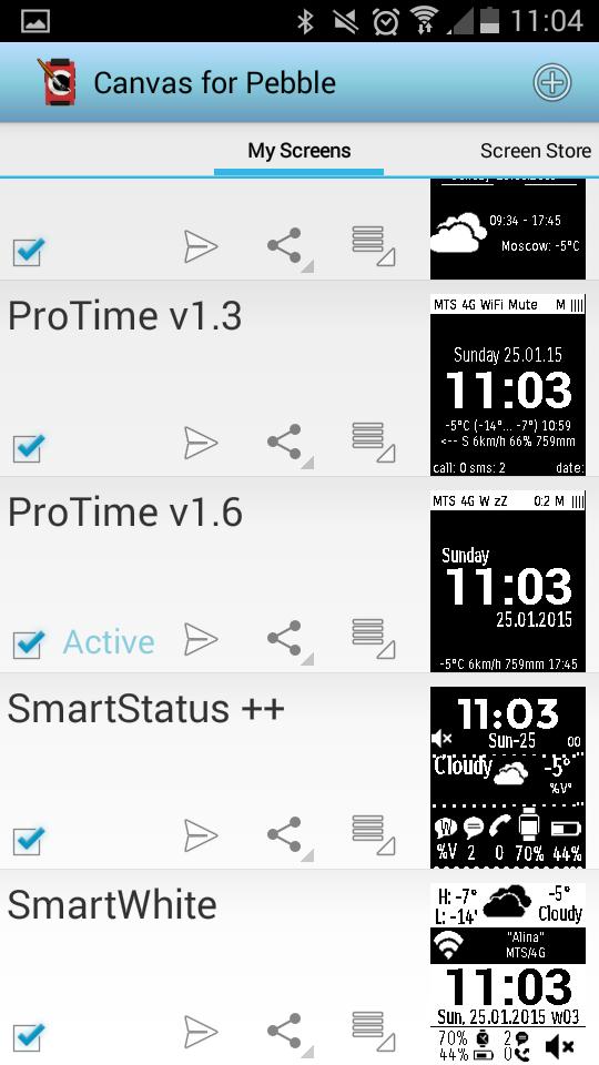 Watchface ProTime для Pebble (интерфейс с кучей настроек) - 2
