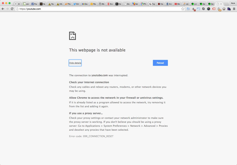 Блокировка YouTube Недоступный YouTube у сотрудников Roem.ru