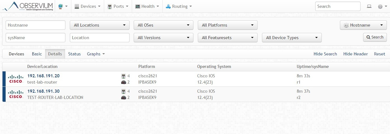 Мониторинг сетевого оборудования Cisco в системе Observium - 2