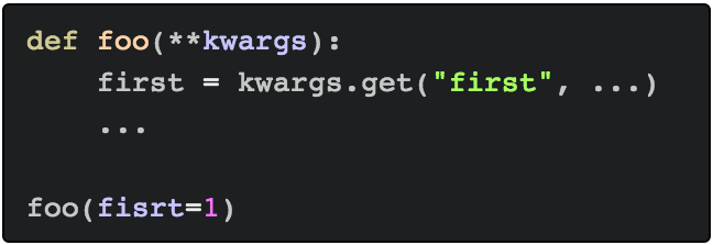 Находим опечатки в **kwargs - 1