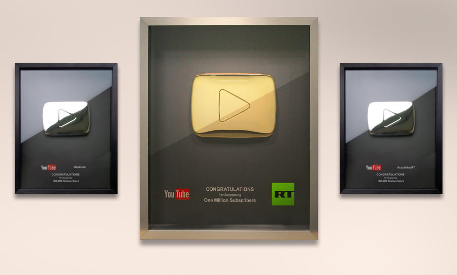 Миллион подписчиков России сегодня (RT) на YouTube