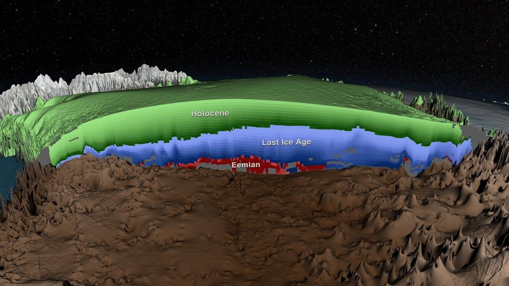 Ледяной покров Гренландии в 3D от NASA - 1