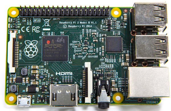 Микрокомпьютер Raspberry Pi 2 Model B стоит $35