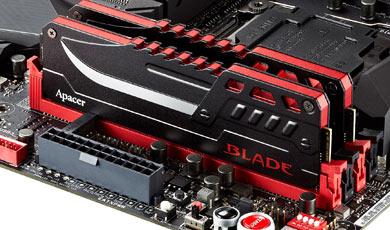 В серию Apacer Blade DDR4 вошли модули объемом 4 и 8 ГБ